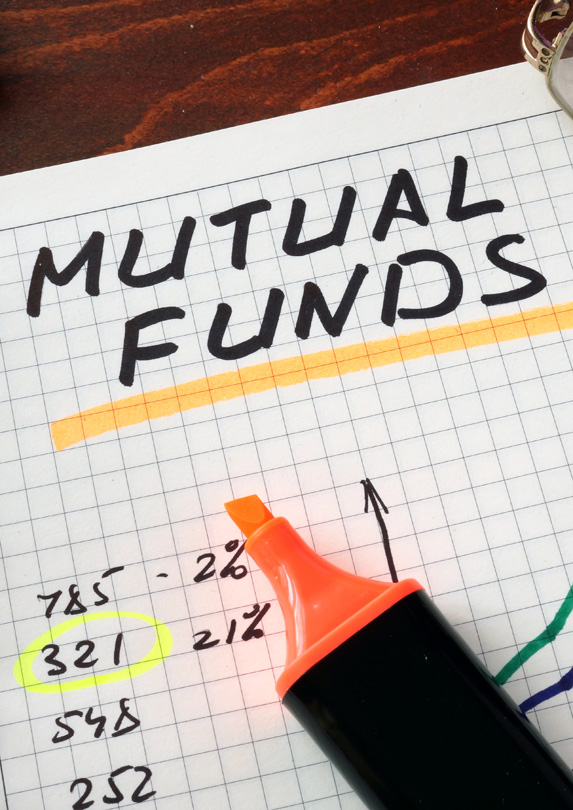 Mutual fund calculations on a piece of paper