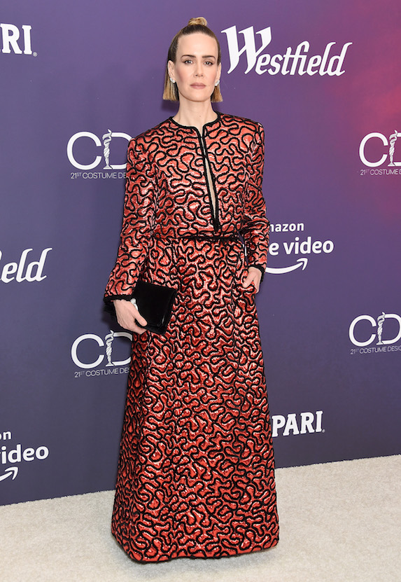 Sarah Paulson poses for a photograph at the 2019 Costume Designers Guild Awards