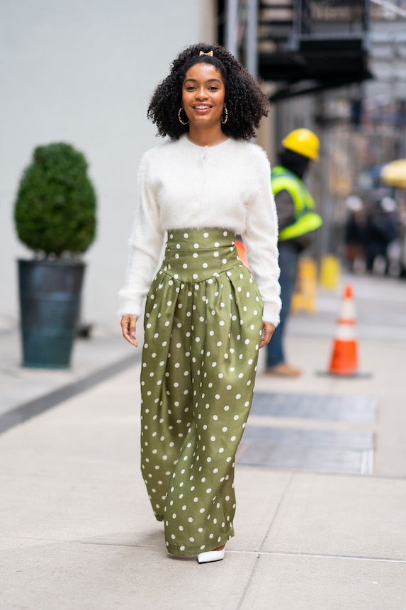 Yara Shahidi is photographed in a Marc Jacobs look in New York in March 16, 2019