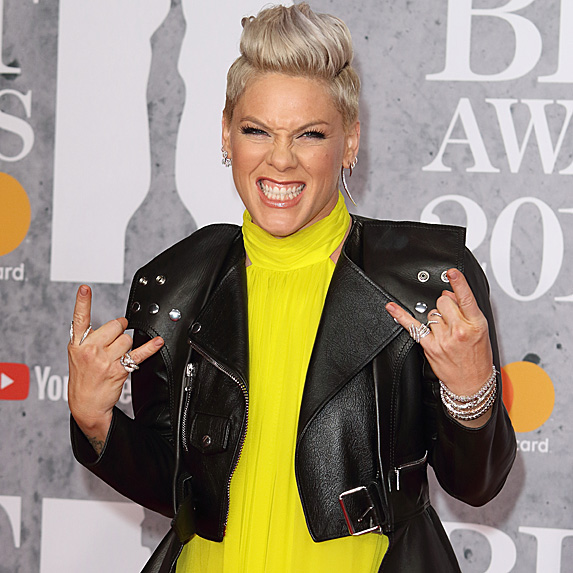 Pink on being a mom