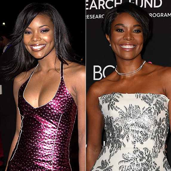 Gabrielle Union in 2001 and 2019