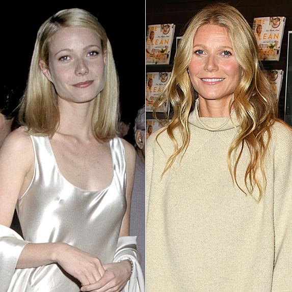 Gwyneth Paltrow in 1995 and 2019