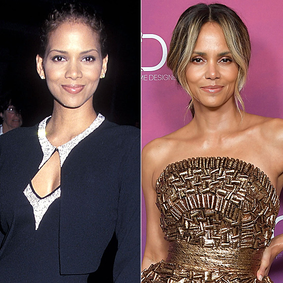 Halle Berry in 1999 and 2019