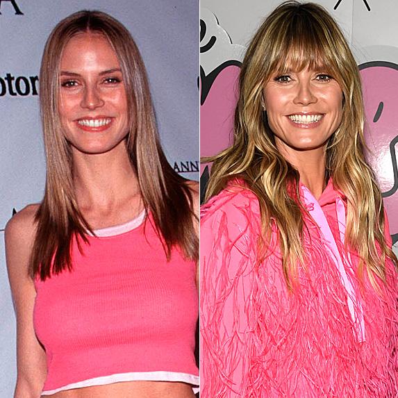Heidi Klum in 1999 and 2019