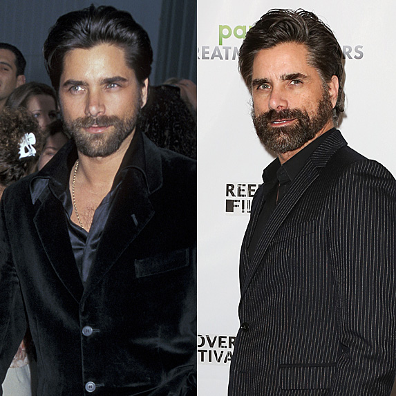 John Stamos in 1997 and 2019