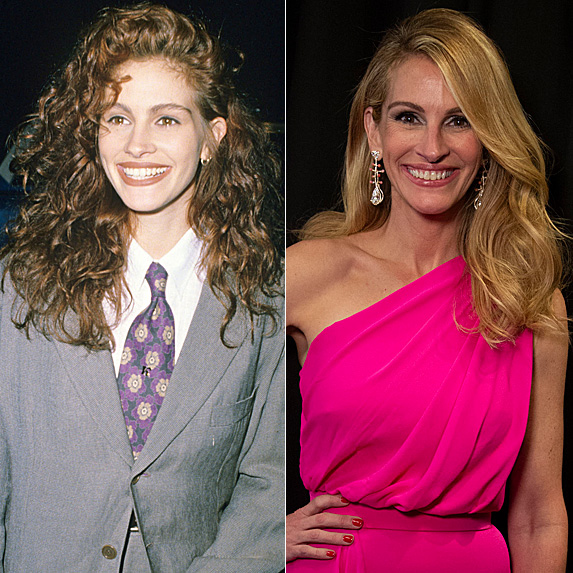 Julia Roberts in 1990 and 2019
