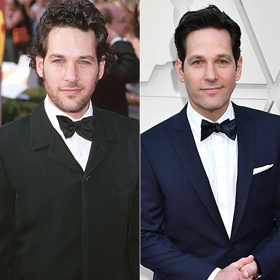 Paul Rudd in 2000 and 2019