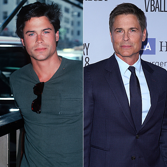 Rob Lowe in 1987 and 2018