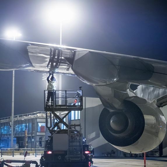 Aircraft Refueller gassing up plane