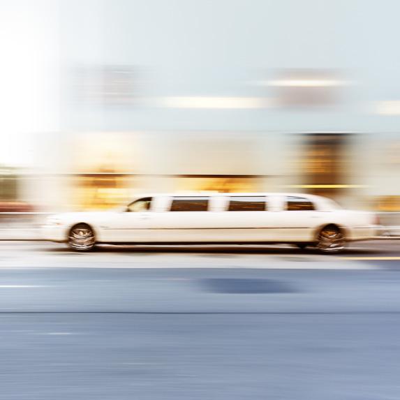 Limousine speeding by