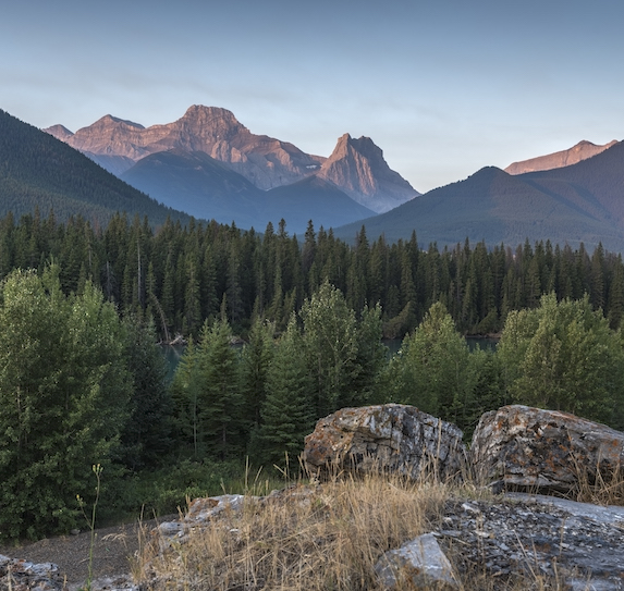 Mountain sunrise in Dead Man's Flats, Alberta