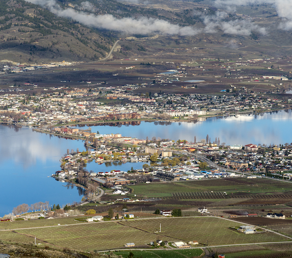 Osoyoos, British Columbia in early spring