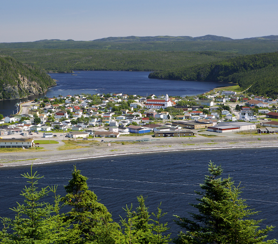 View of the town of Placentia, Newfoundland