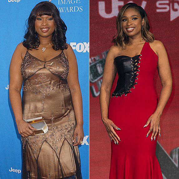 Jennifer Hudson in 2006 and 2019