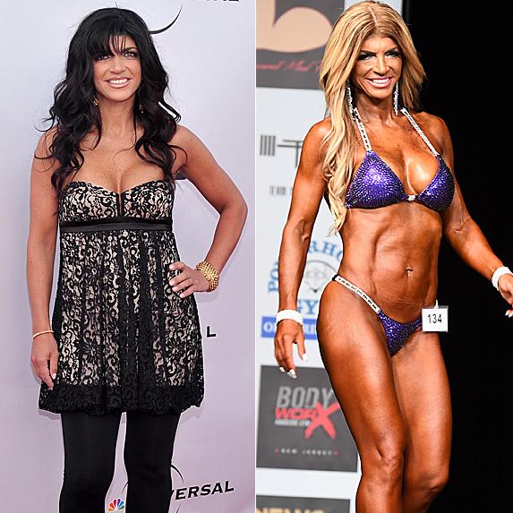 Teresa Giudice in 2010 and 2018