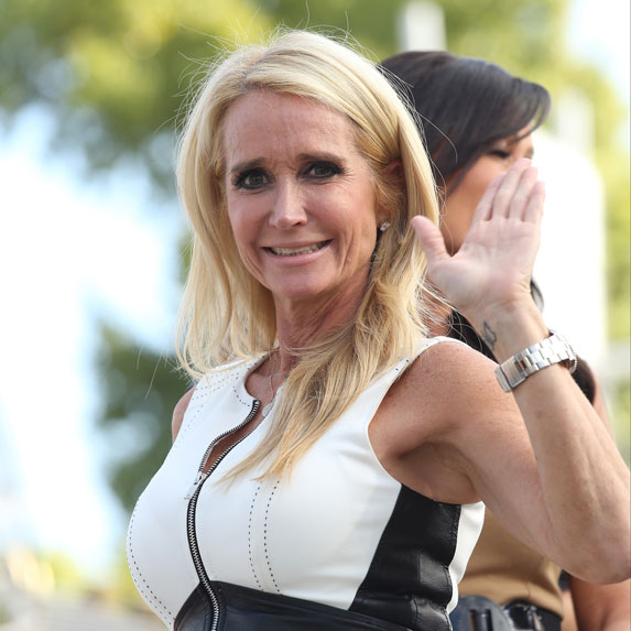 Kim Richards waving