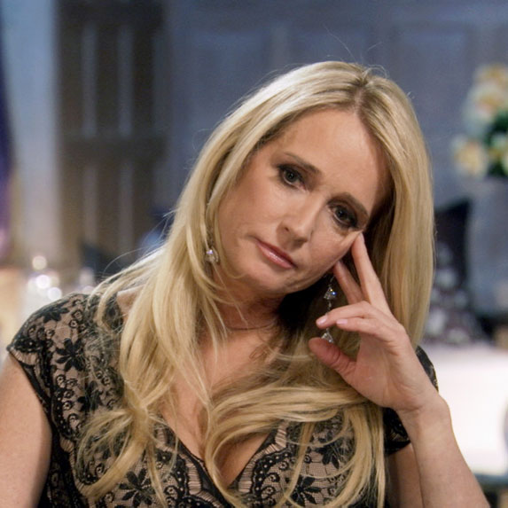 Kim Richards looking sad