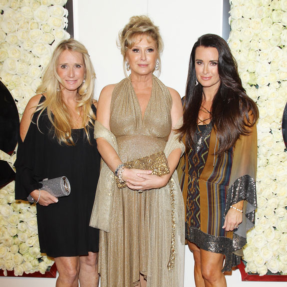 Kim Richards with her sisters Kathy Hilton and Kyle Richards