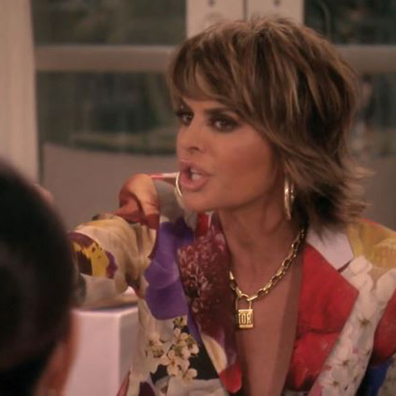 Lisa Rinna yelling on The Real Housewives of Beverly Hills