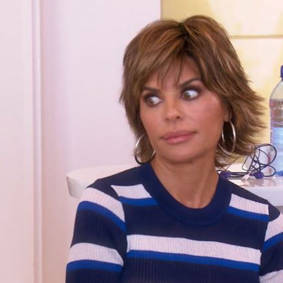 Lisa Rinna with eyes wide