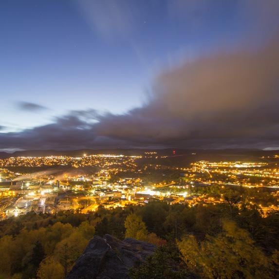 Corner Brook, Newfoundland and Labrador at night