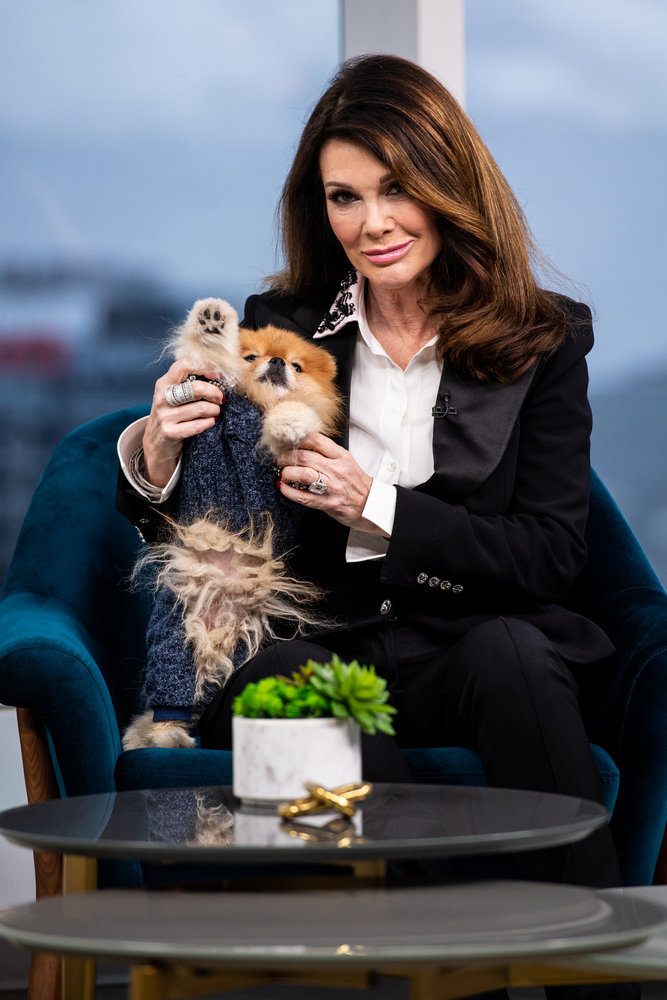 Lisa Vanderpump with her dog