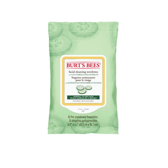Burt's Bees Facial Cleansing Towelettes, Cucumber and Sage