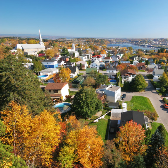 Saguenay, Quebec in the autumn