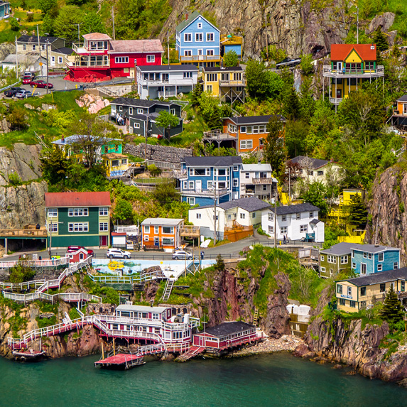 Colourful houses in St. John's, Newfoundland and Labrador
