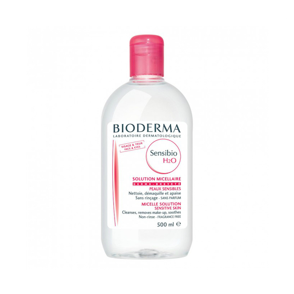 Bottle of Bioderma cleansing product