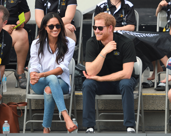 Meghan Markle during her first official public appearance with Prince Harry at the Toronto Invictus Games in 2017.