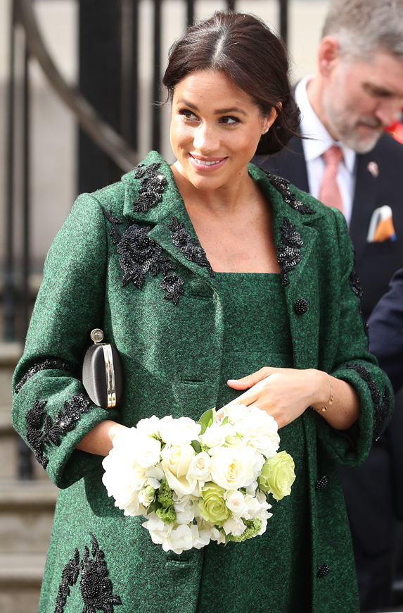 Meghan, Duchess of Sussex leaves Canada House after a Commonwealth Day event in central London.