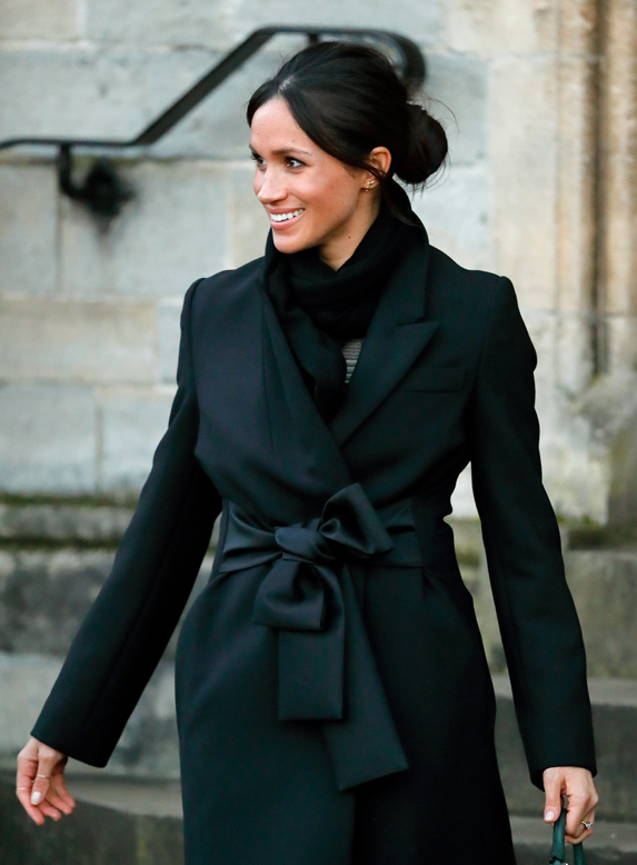 Meghan, Duchess of Sussex visits Cardiff Castle on January 18, 2018 in Wales.