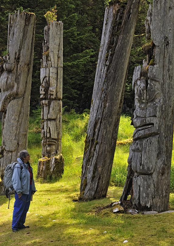 S'gang Gwaay, Haida Gwaii, British Columbia Totem Poles