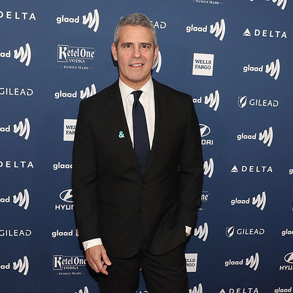 New dad Andy Cohen at the GLAAD Awards 2019