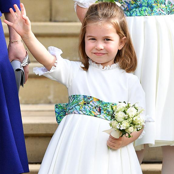 Princess Charlotte at a royal wedding