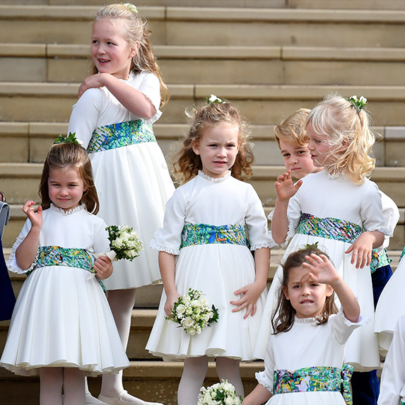 Isla Phillips and her royal family at a royal wedding