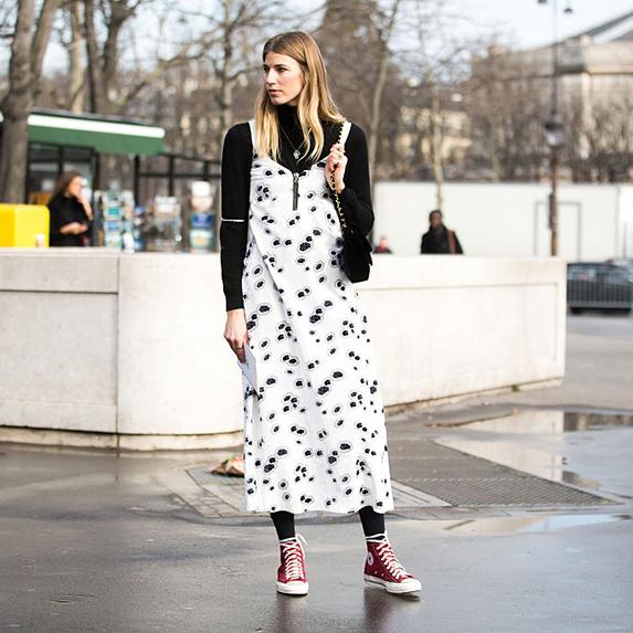 Get the look: layered slip dress
