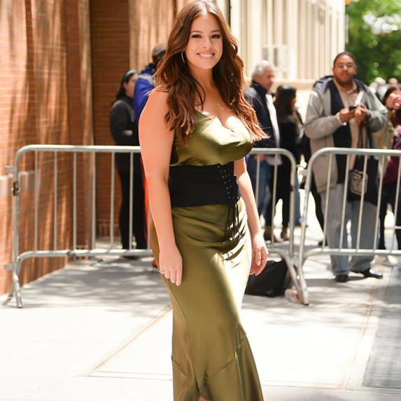 Ashley Graham in a slip dress