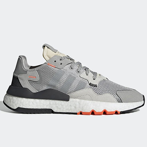 Grey sneaks with orange accents