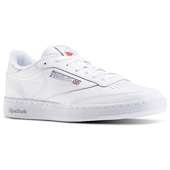 Plain white tennis shoe