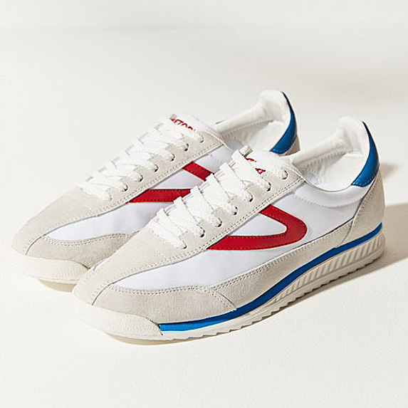 White, red and blue sneakers