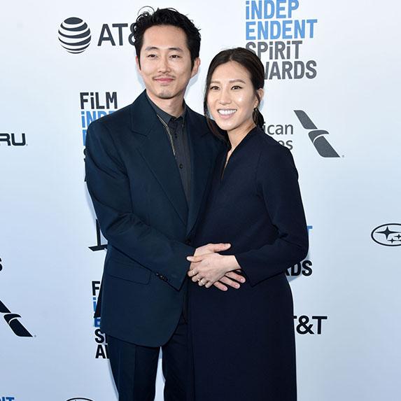 New parents Steven Yeun and Joana Pak