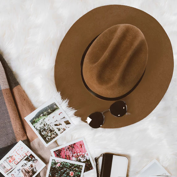 Instagram worthy photos featuring photos and a fashion hat