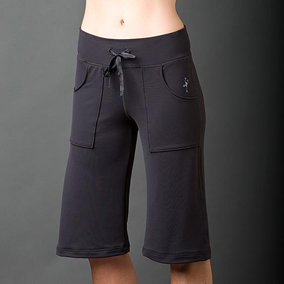 Knee length black board shorts