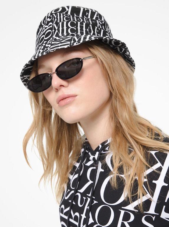 Model wears bucket hat