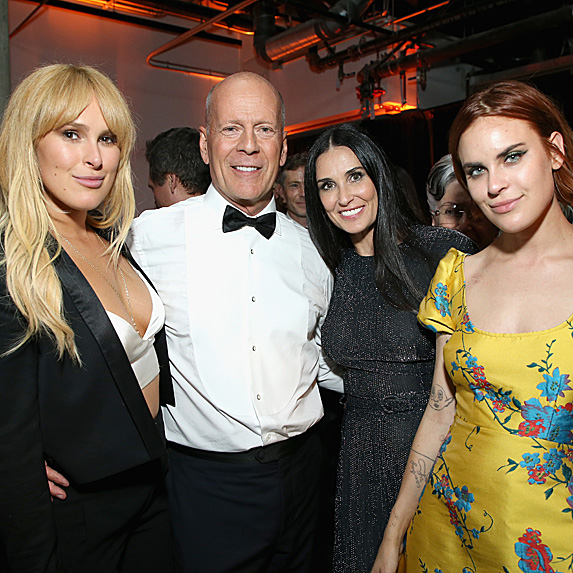 Rumer Willis, Bruce Willis, Demi Moore and Tallulah Willis