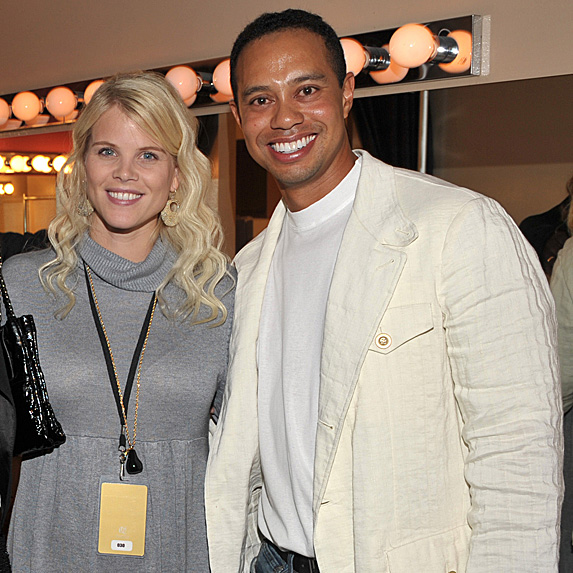 Elin Nordegren and Tiger Woods