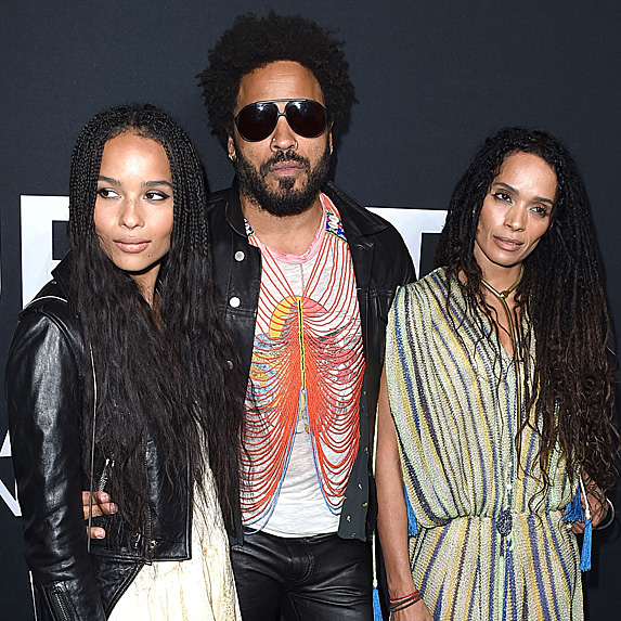 Zoe Kravitz, Lenny Kravitz and Lisa Bonet