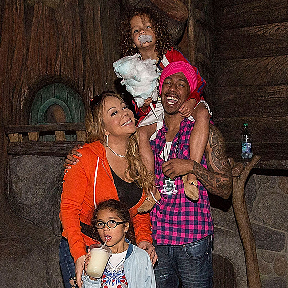 Mariah Carey, Nick Cannon, daughter Monroe and son Moroccan